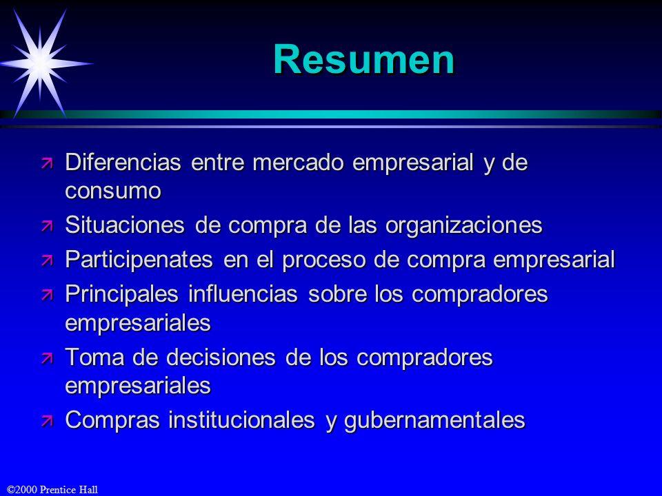 Resumen Diferencias entre mercado empresarial y de consumo