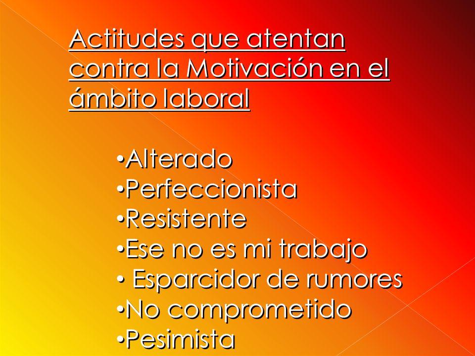 Actitudes que atentan contra la Motivación en el ámbito laboral
