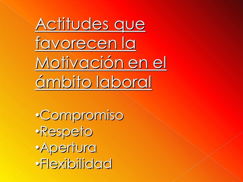 Actitudes que favorecen la Motivación en el ámbito laboral