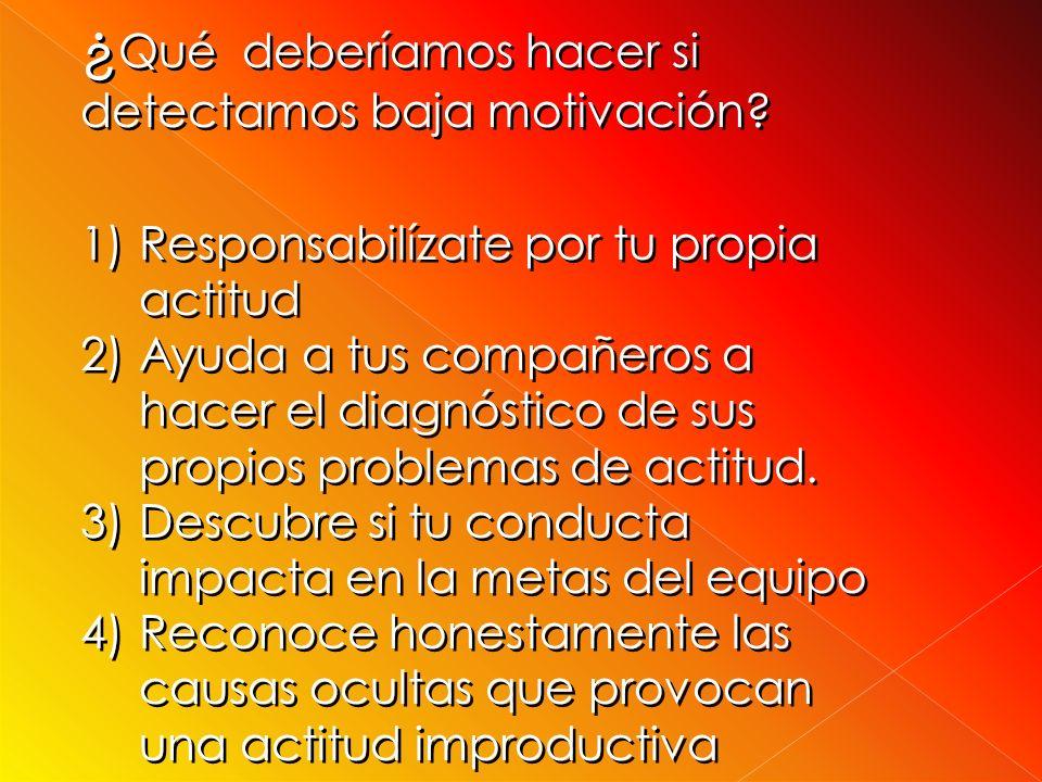 ¿Qué deberíamos hacer si detectamos baja motivación