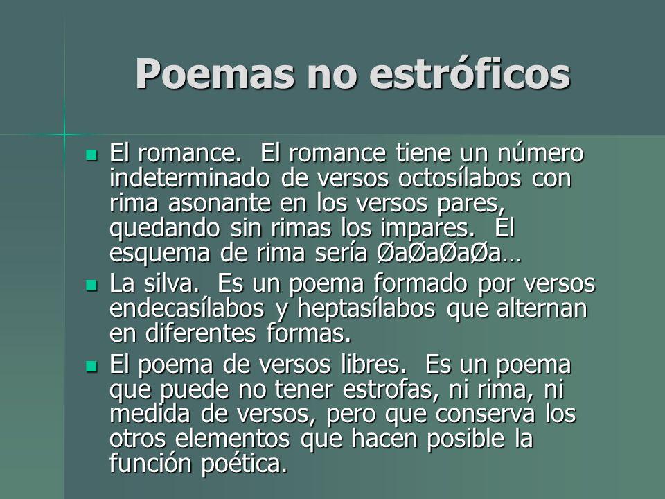 Poemas no estróficos