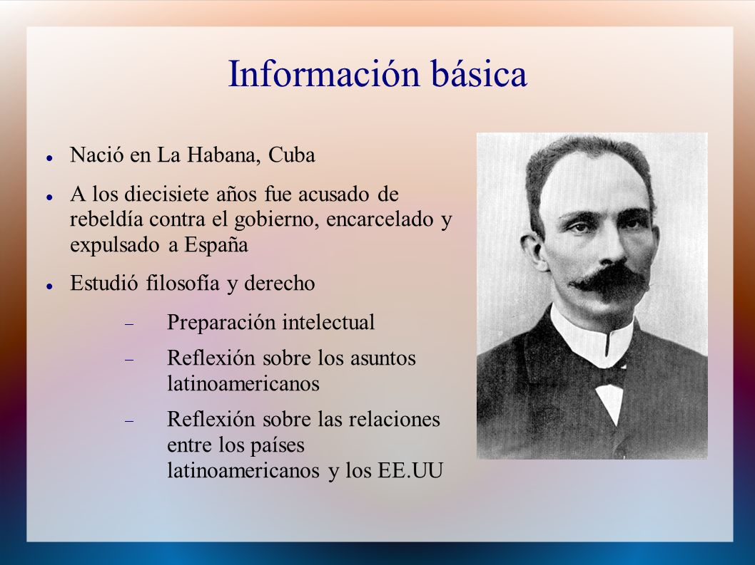 Información básica Nació en La Habana, Cuba