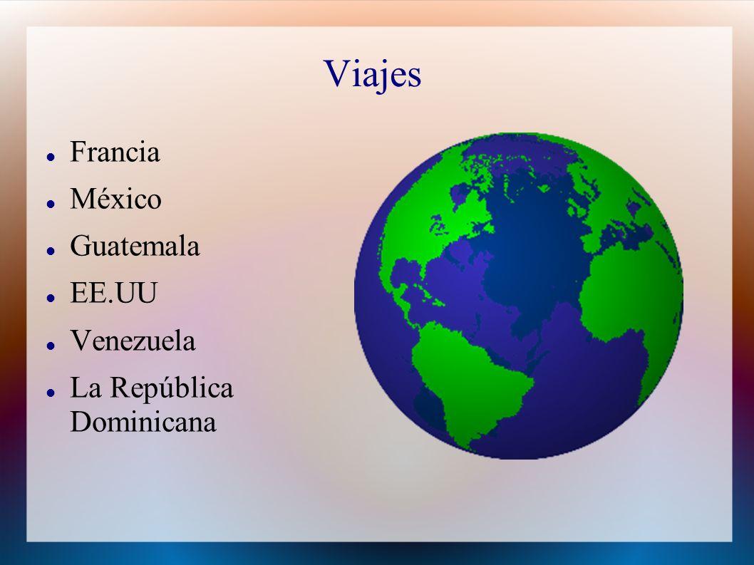 Viajes Francia México Guatemala EE.UU Venezuela