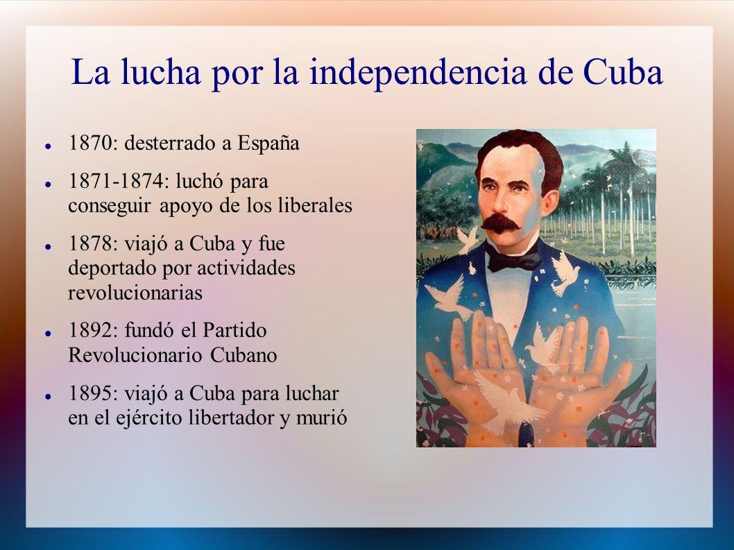 La lucha por la independencia de Cuba