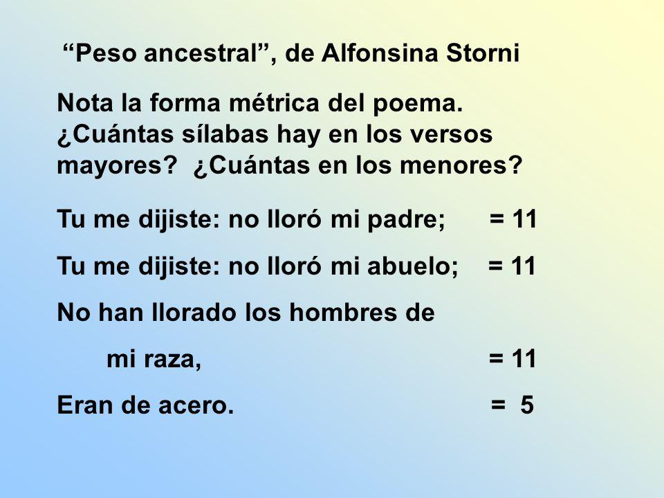 Peso ancestral , de Alfonsina Storni