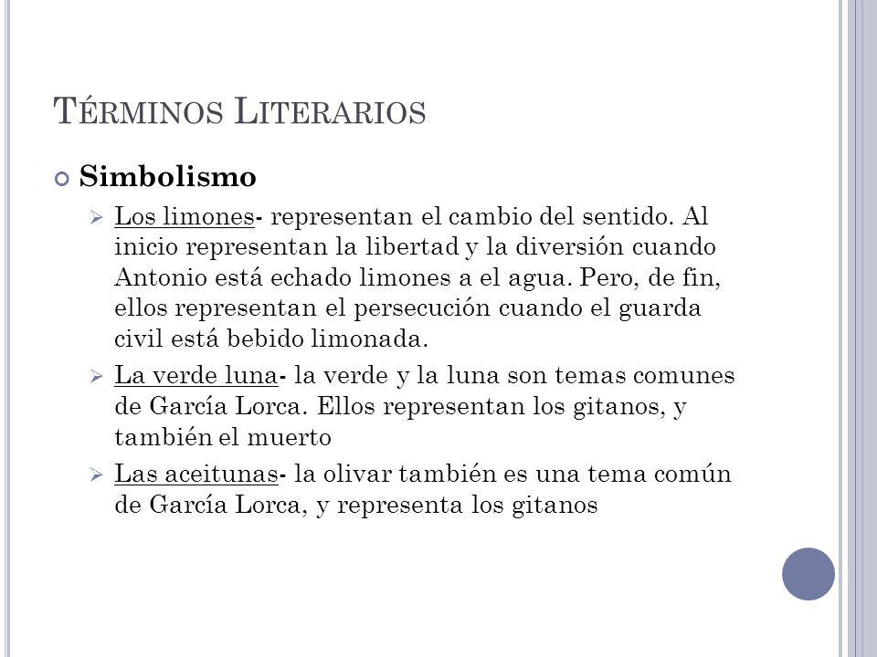 Términos Literarios Simbolismo