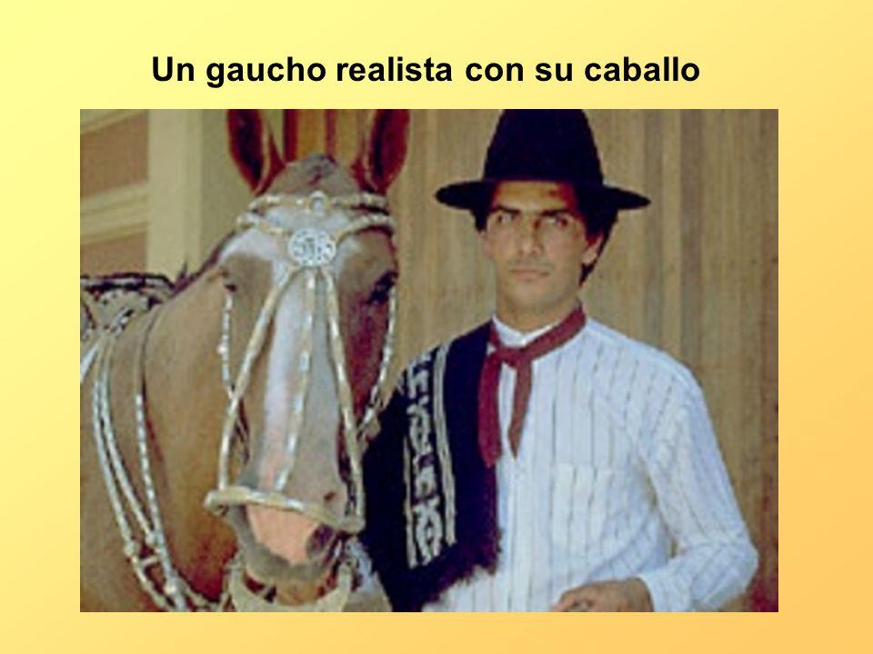 Un gaucho realista con su caballo