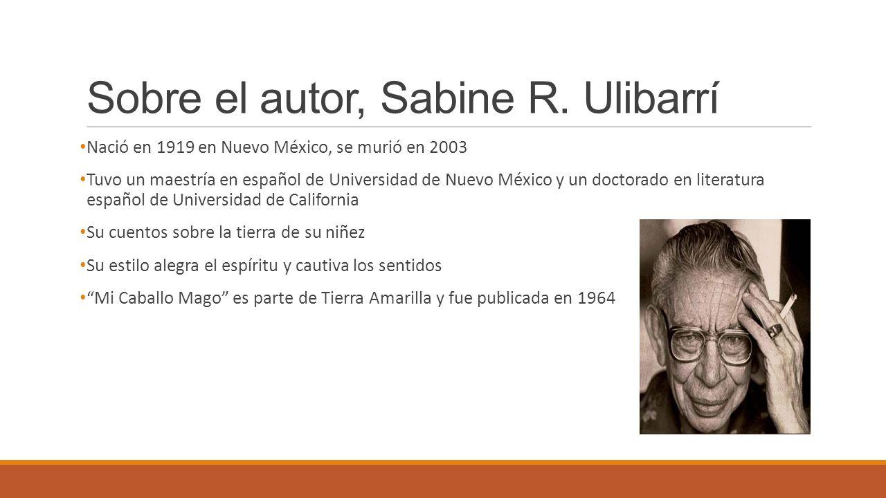 Sobre el autor, Sabine R. Ulibarrí