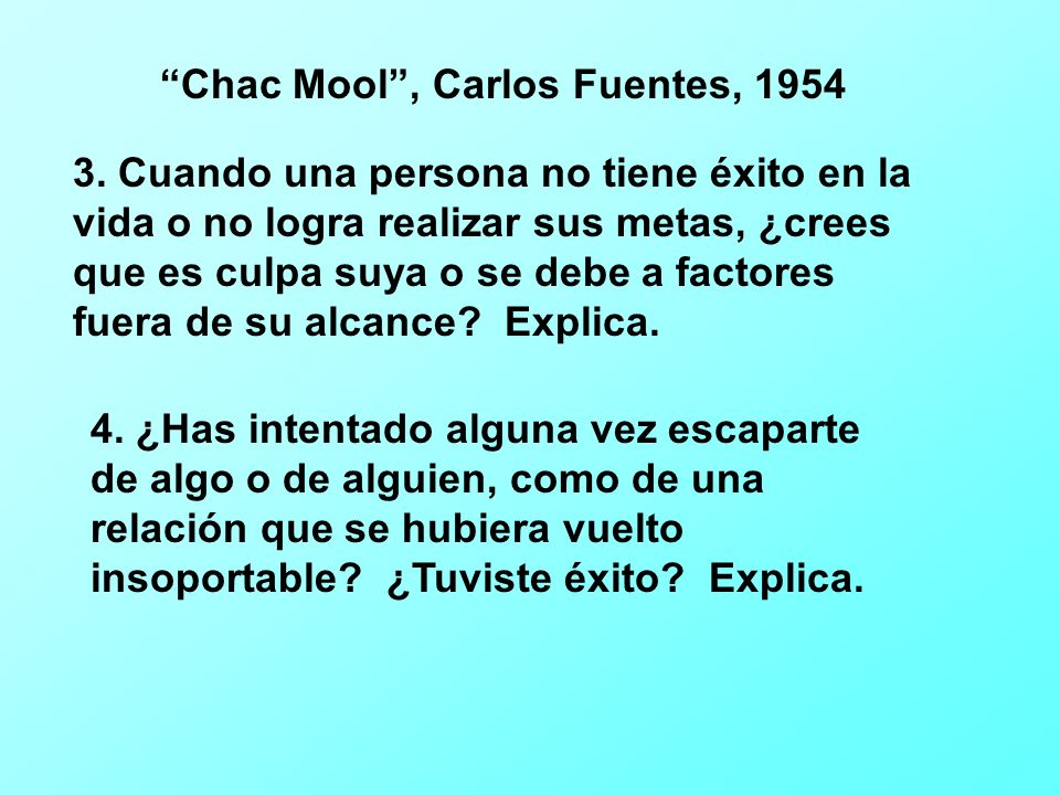 Chac Mool , Carlos Fuentes, 1954