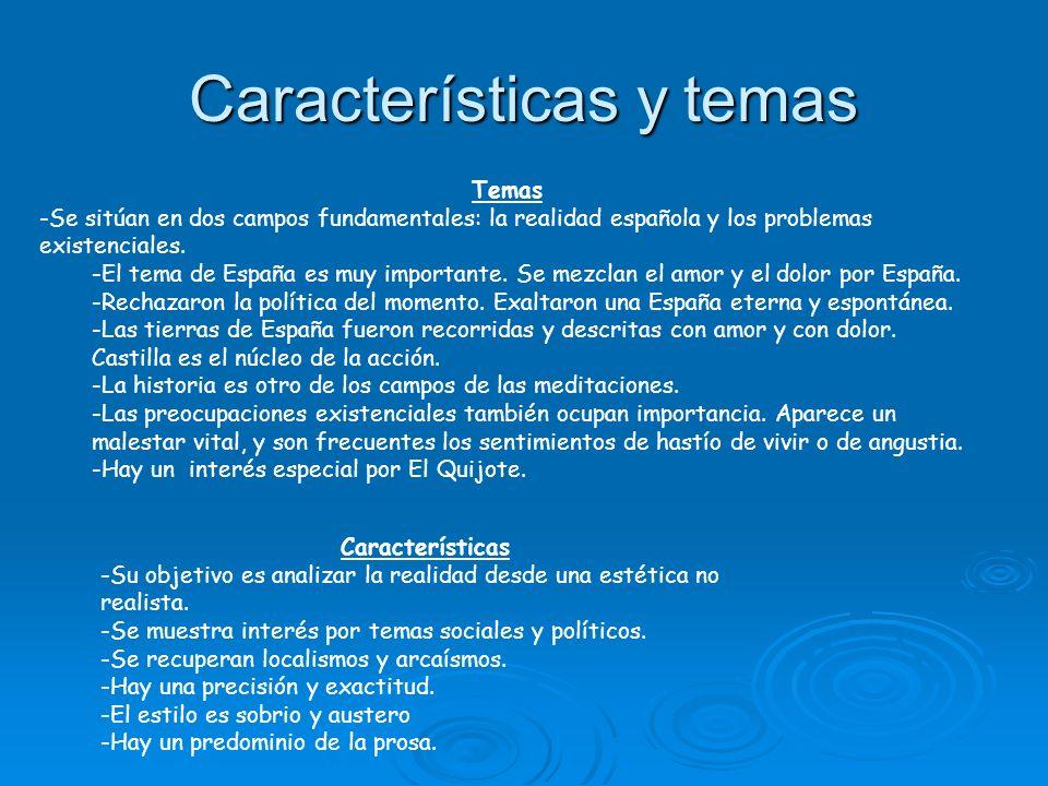 Características y temas