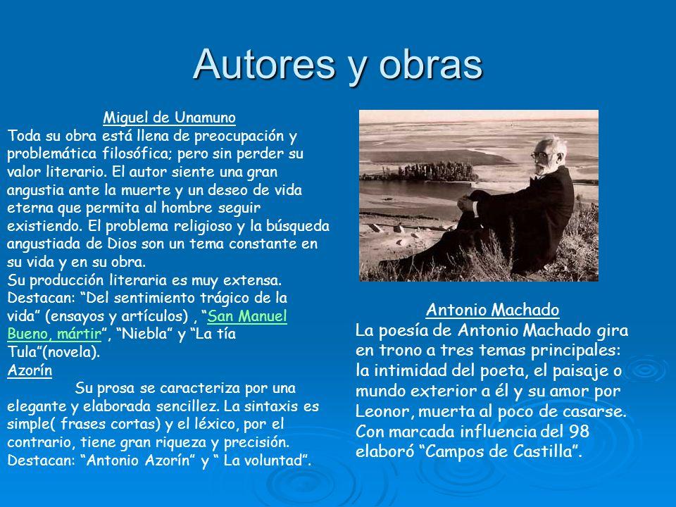 Autores y obras Antonio Machado