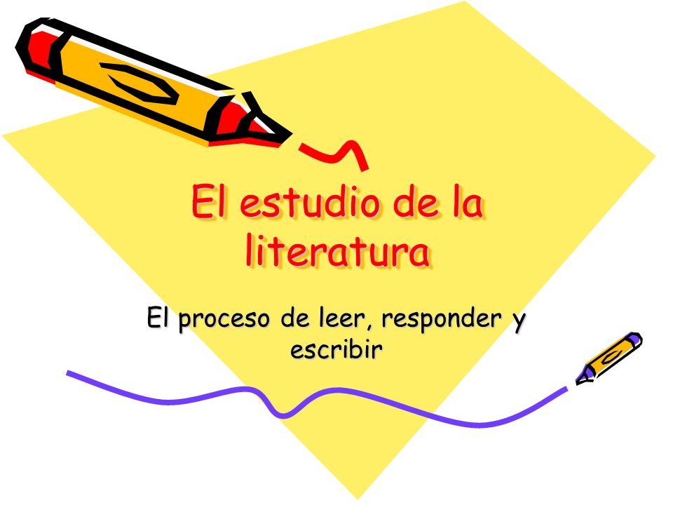 El estudio de la literatura