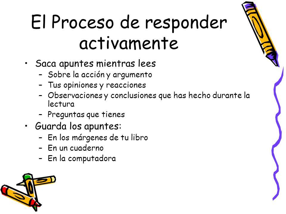 El Proceso de responder activamente