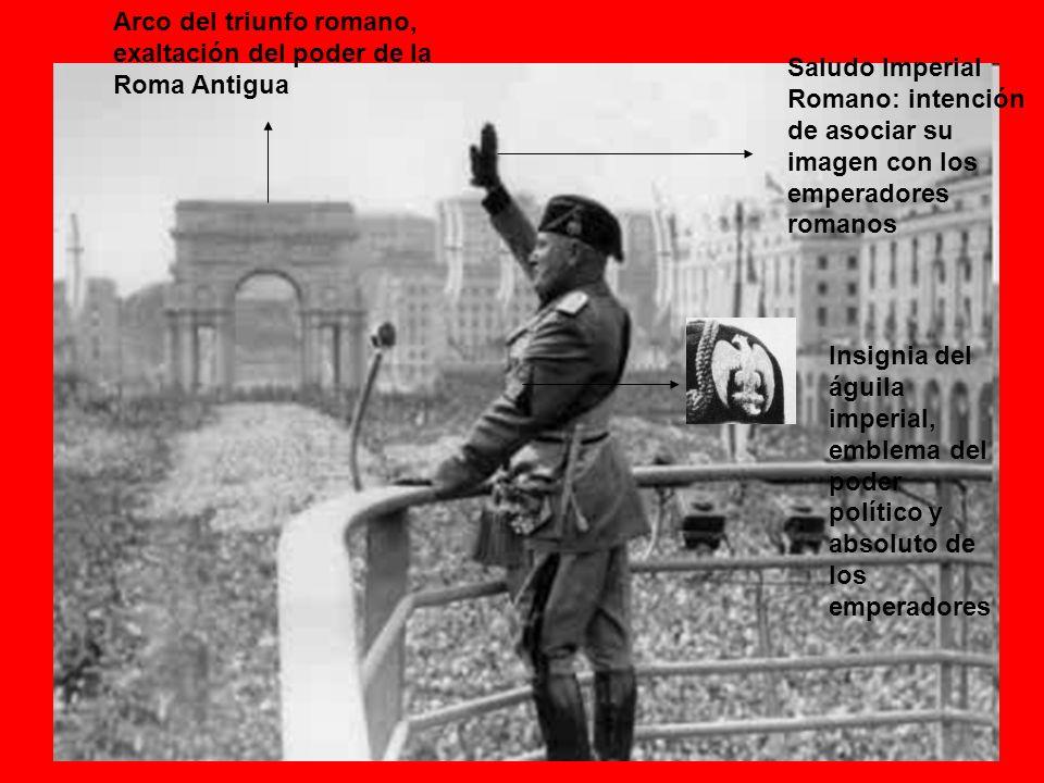 Arco del triunfo romano, exaltación del poder de la Roma Antigua