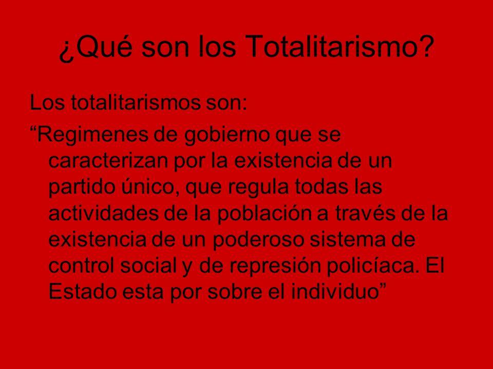 ¿Qué son los Totalitarismo