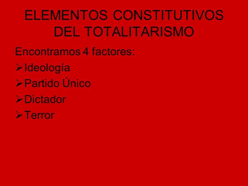 ELEMENTOS CONSTITUTIVOS DEL TOTALITARISMO