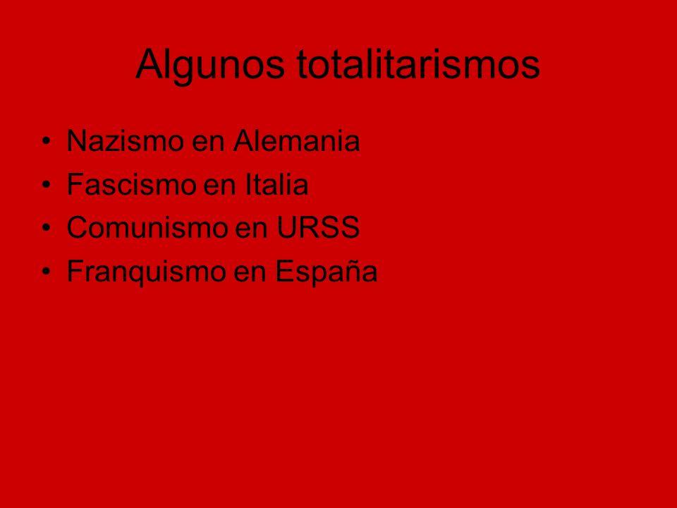 Algunos totalitarismos