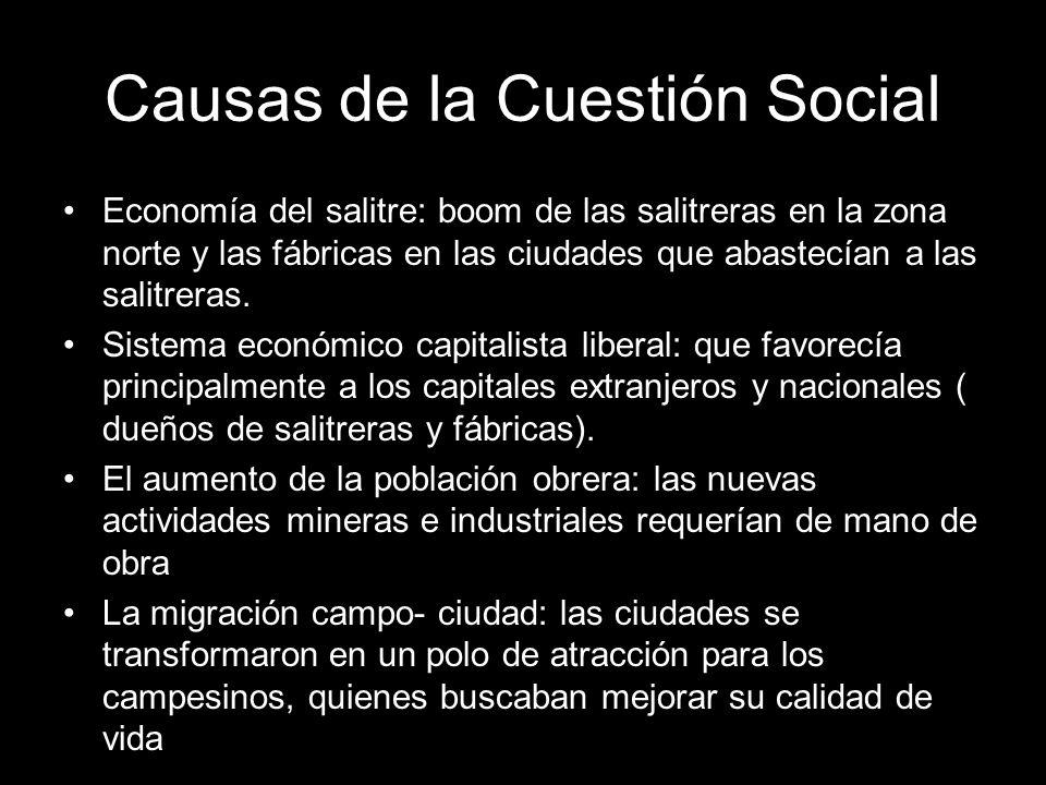 Causas de la Cuestión Social