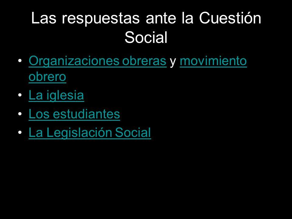 Las respuestas ante la Cuestión Social