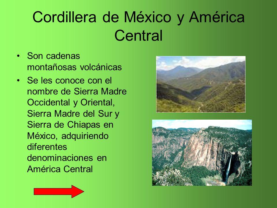 Cordillera de México y América Central