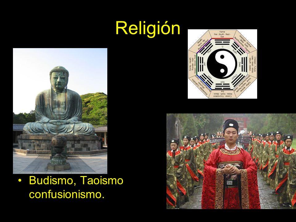 Religión Budismo, Taoismo confusionismo.