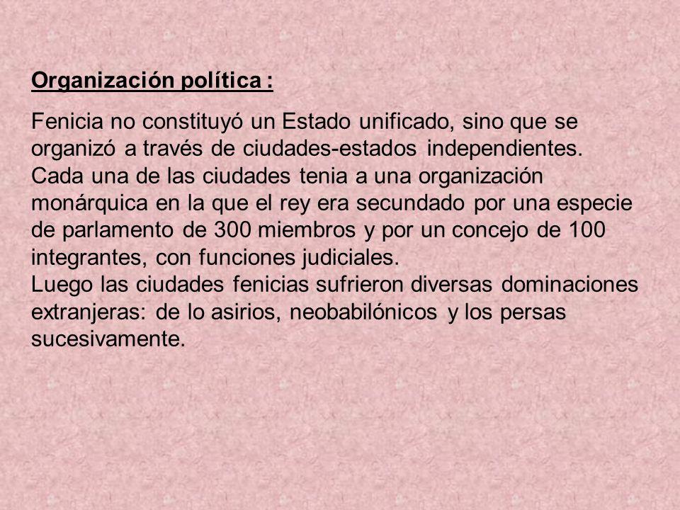 Organización política :