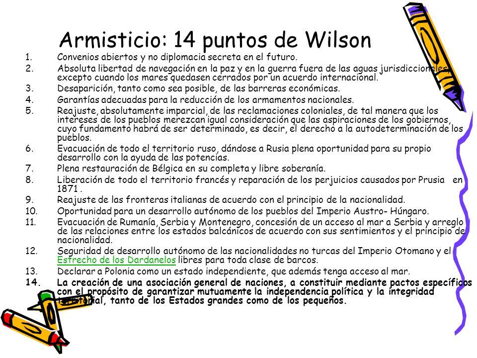 Armisticio: 14 puntos de Wilson