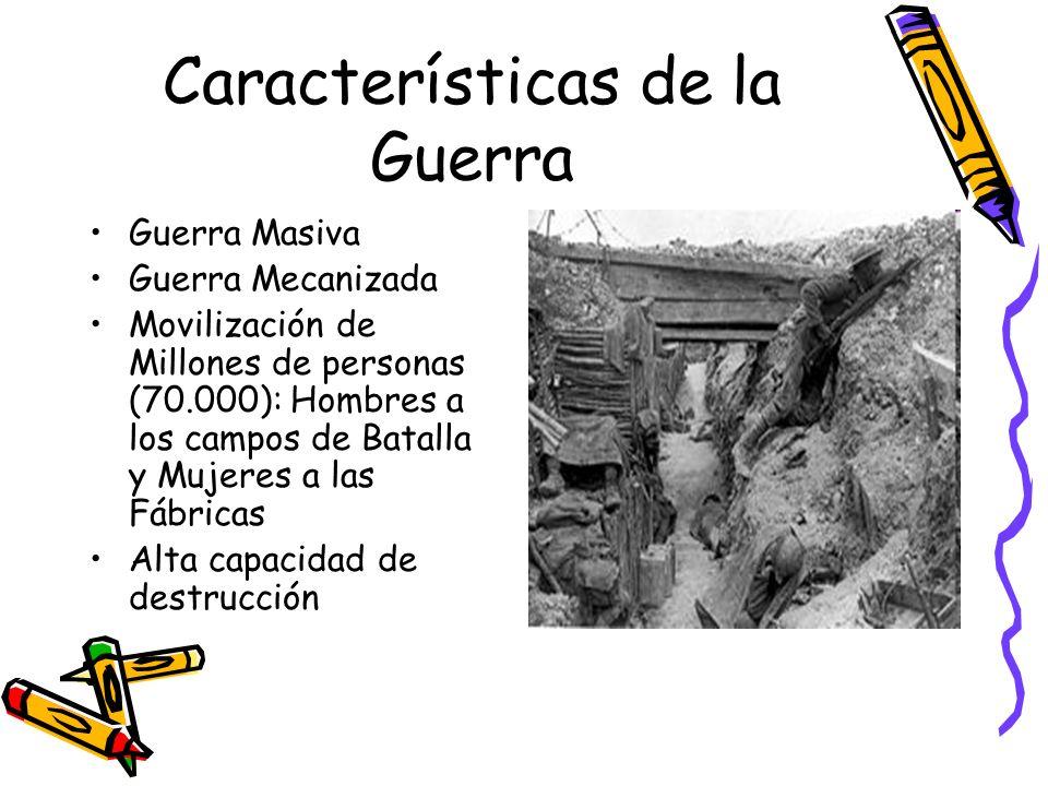 Características de la Guerra