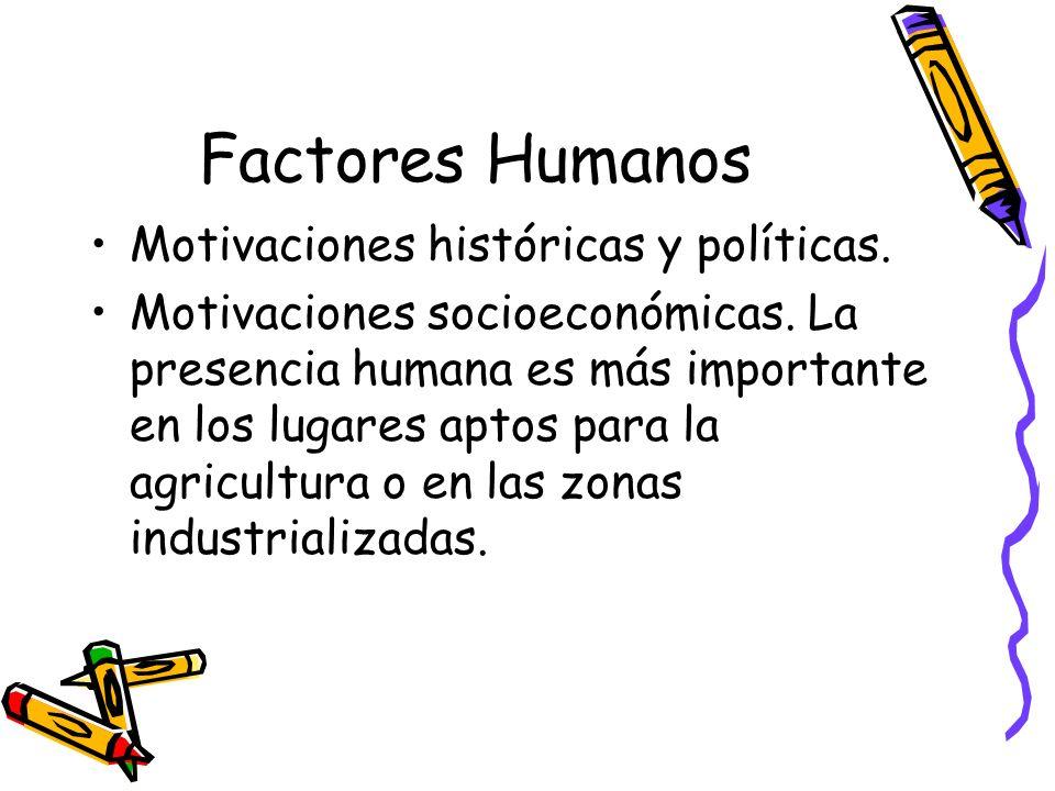 Factores Humanos Motivaciones históricas y políticas.