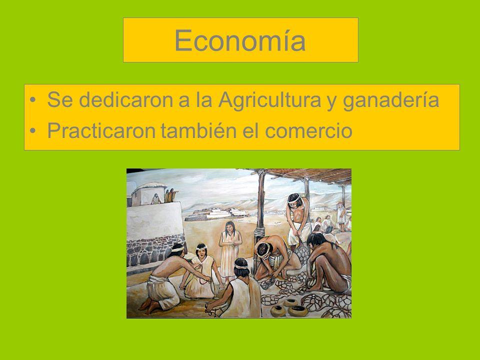 Economía Se dedicaron a la Agricultura y ganadería