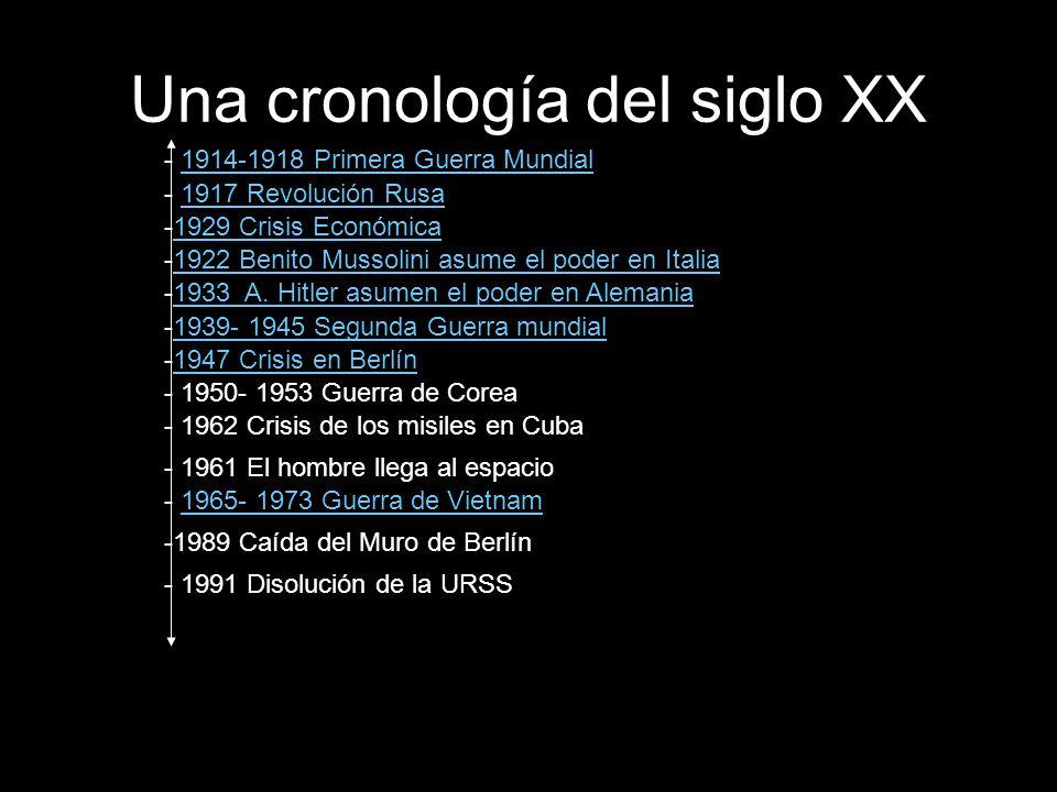 Una cronología del siglo XX