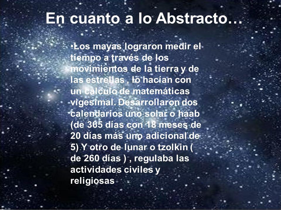 En lo abstracto… En cuanto a lo Abstracto…