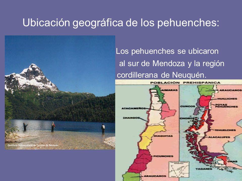 Ubicación geográfica de los pehuenches:
