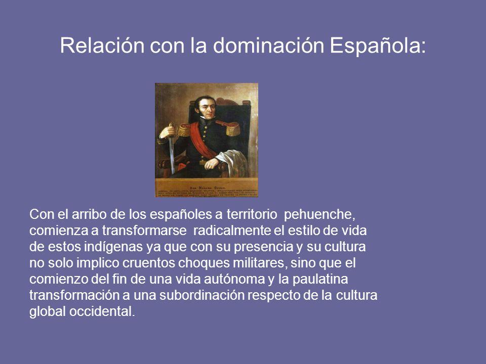 Relación con la dominación Española: