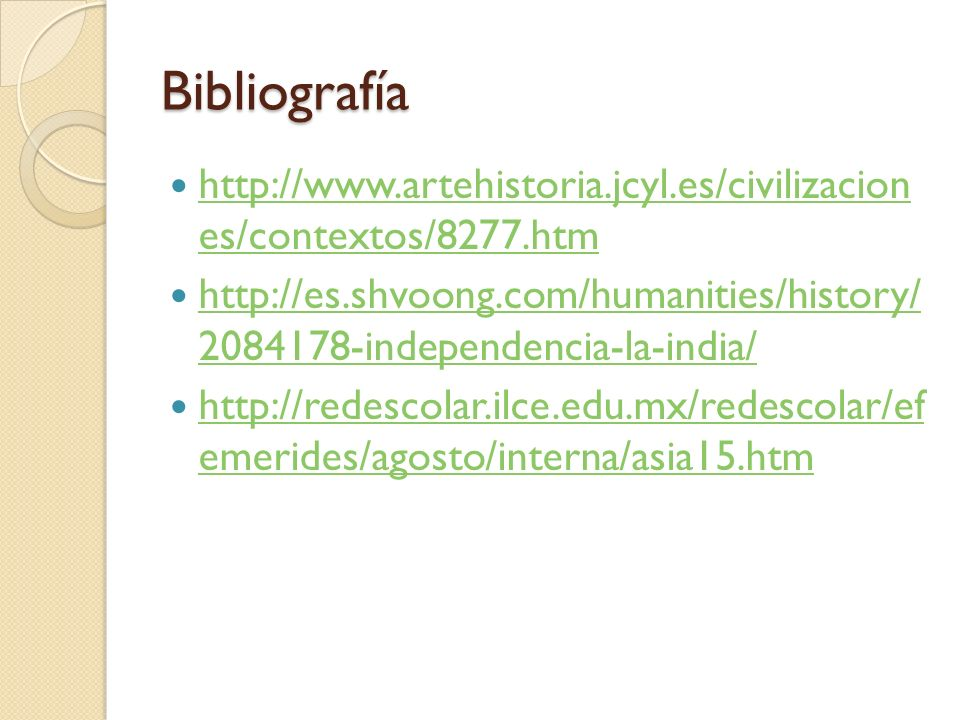 Bibliografía http://www.artehistoria.jcyl.es/civilizacion es/contextos/8277.htm.