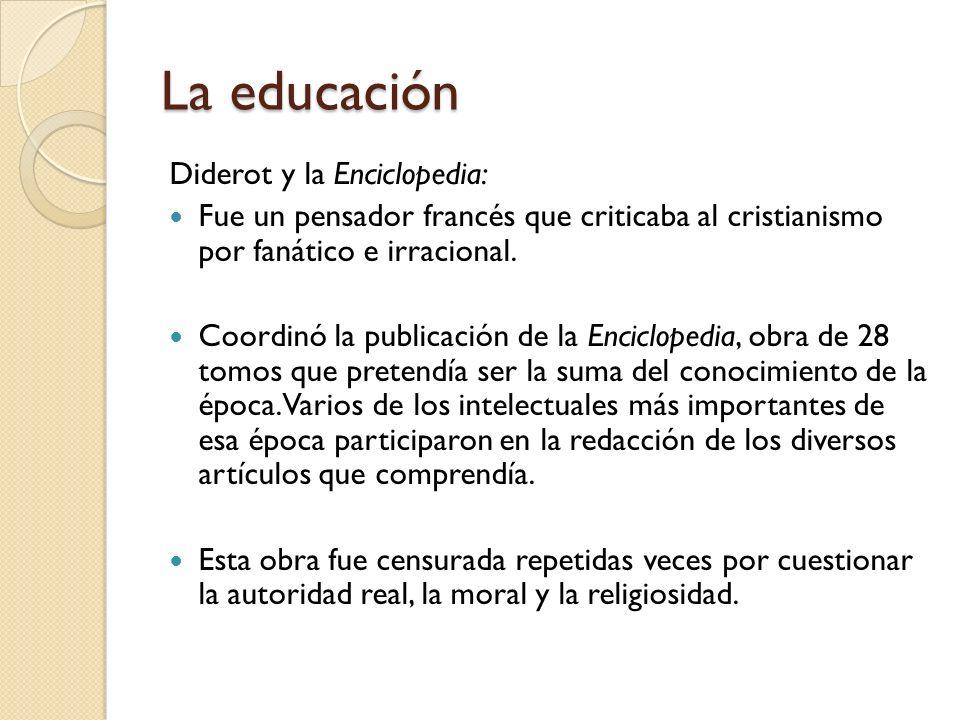 La educación Diderot y la Enciclopedia: