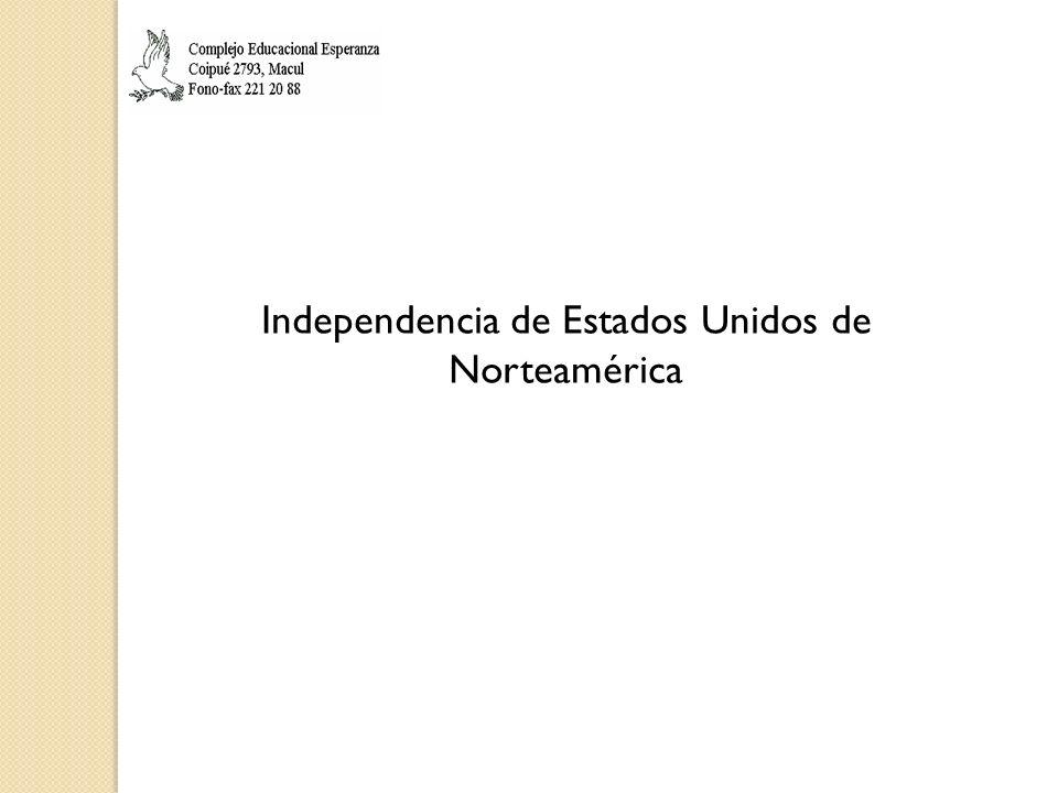 Independencia de Estados Unidos de Norteamérica