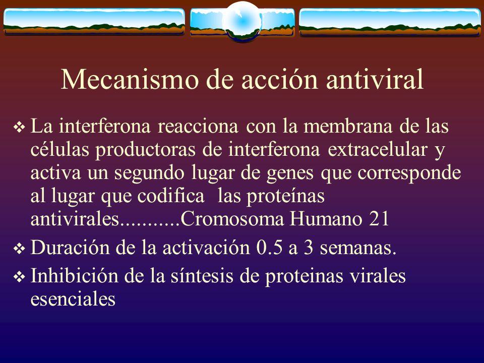 Mecanismo de acción antiviral