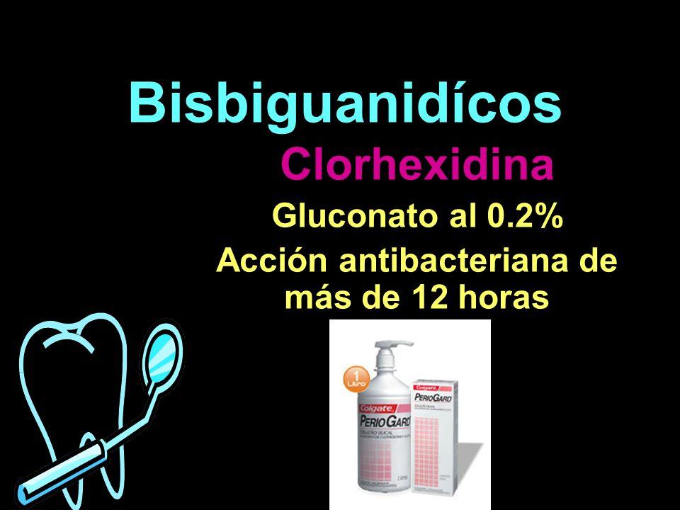 Acción antibacteriana de más de 12 horas