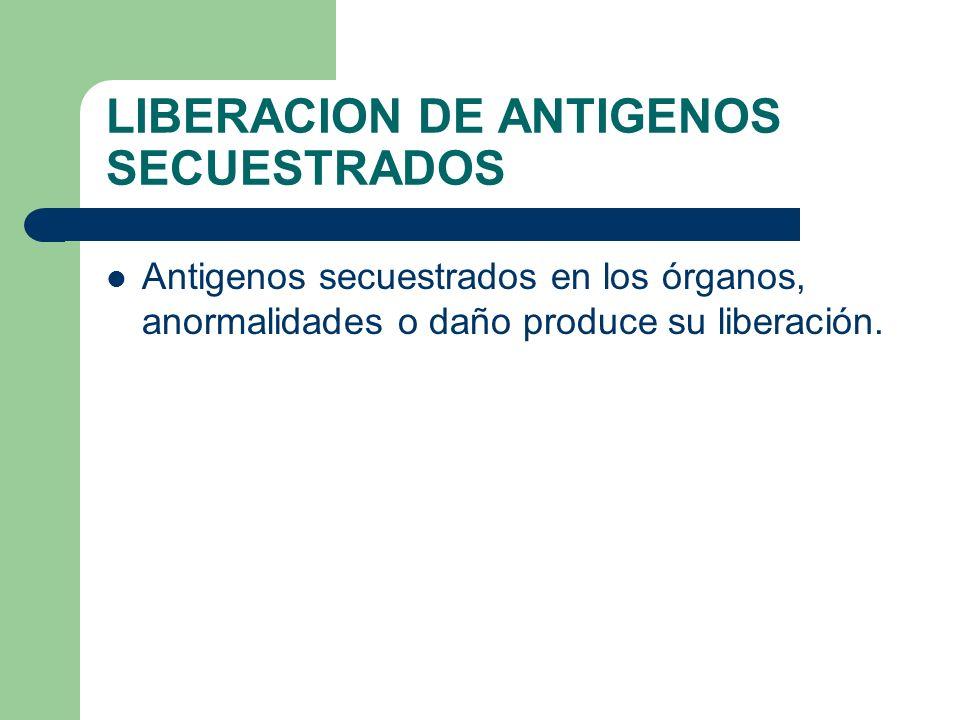 LIBERACION DE ANTIGENOS SECUESTRADOS