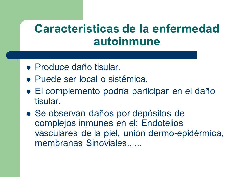 Caracteristicas de la enfermedad autoinmune
