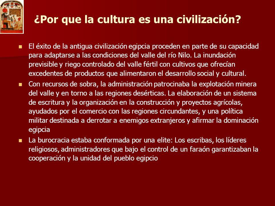 ¿Por que la cultura es una civilización