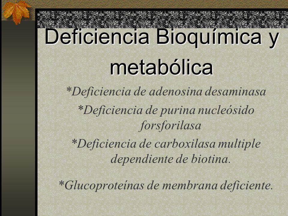 Deficiencia Bioquímica y metabólica
