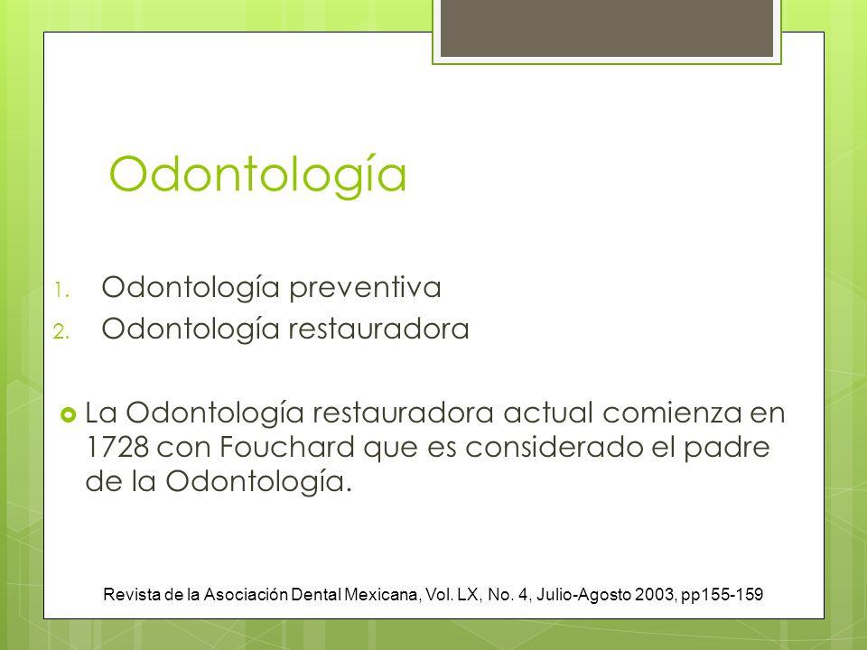 Odontología Odontología preventiva Odontología restauradora