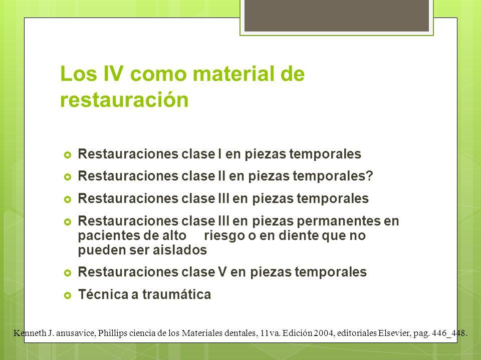 Los IV como material de restauración