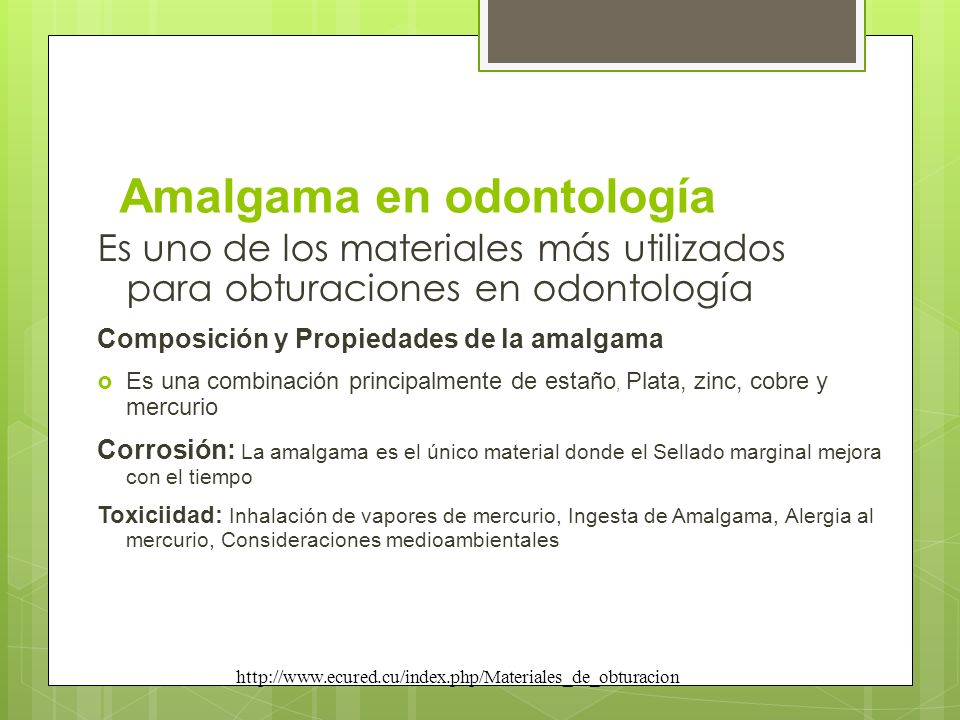 Amalgama en odontología