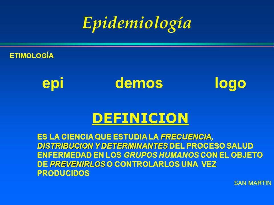 Epidemiología DEFINICION