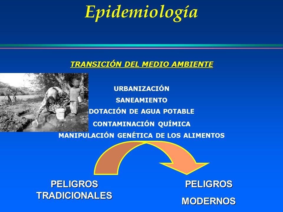 Epidemiología PELIGROS TRADICIONALES PELIGROS MODERNOS