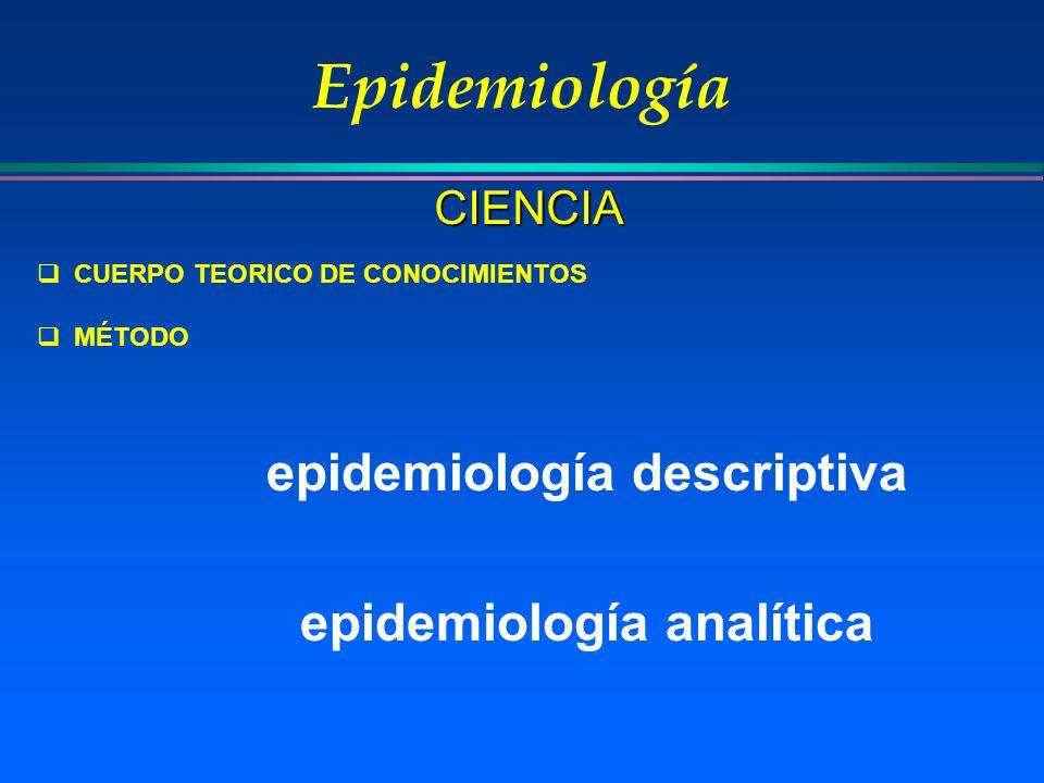 epidemiología descriptiva epidemiología analítica