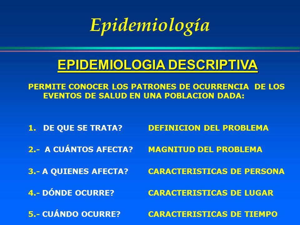 EPIDEMIOLOGIA DESCRIPTIVA